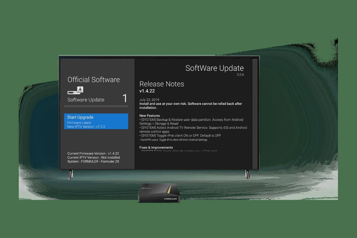 Formuler z8 Pro software update(1)