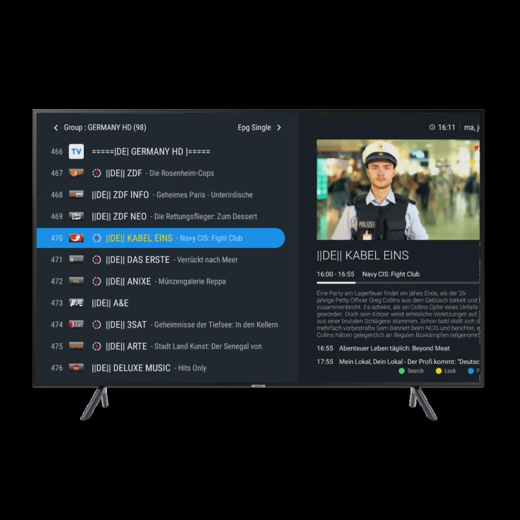 MyTV online 2 kanalenlijst