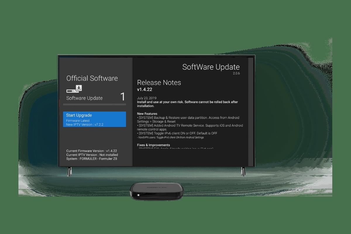 Formuler GTV software update